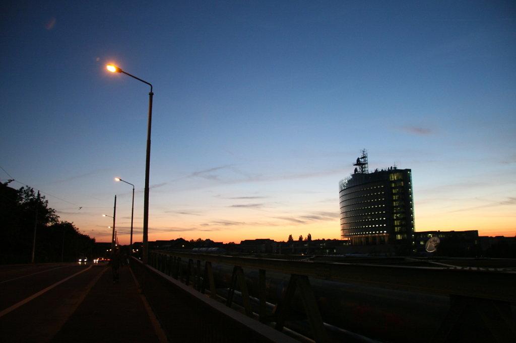 Sonnenuntergang Richard Lehmann Strasse MDR Media City 3104