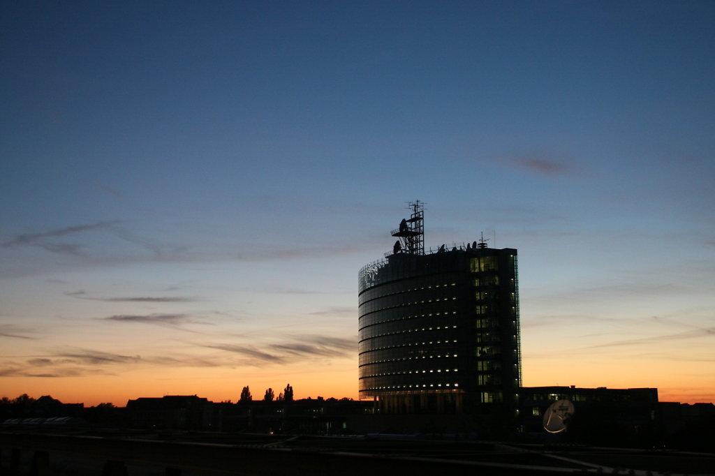 Sonnenuntergang Richard Lehmann Strasse MDR Media City 3103