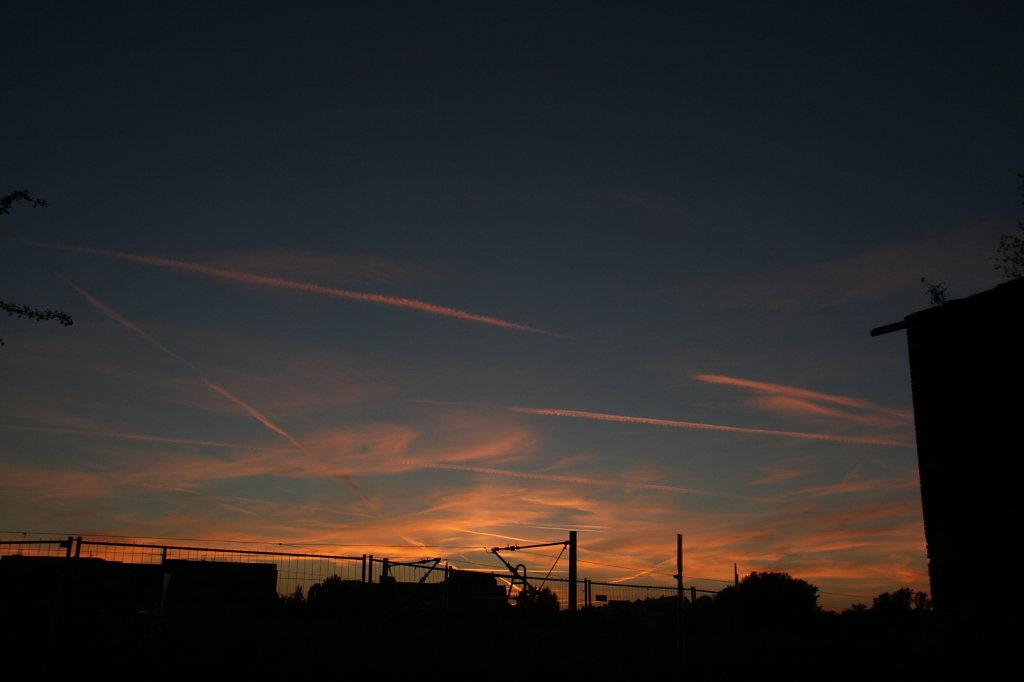 Lokschuppen Altenburgerstrasse Sonnenuntergang 6240