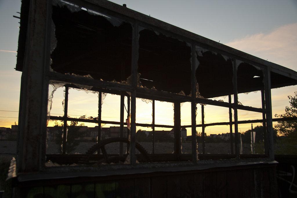 Lokschuppen Altenburgerstrasse Sonnenuntergang 6237.1