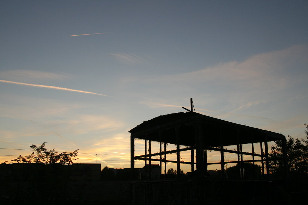 Lokschuppen Altenburgerstrasse Sonnenuntergang 6235
