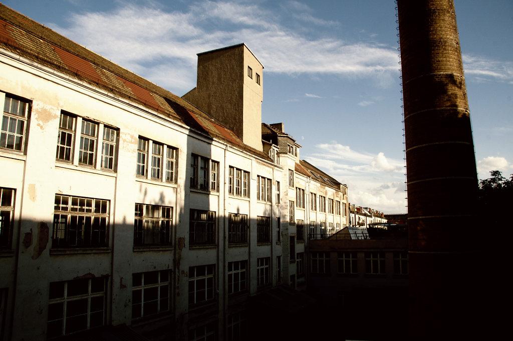 Ehem LVZ Druckerei Hermann Duncker Gebäuderückseite 5688.1